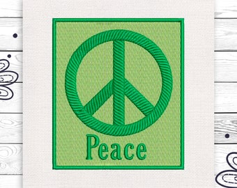 Peace embroidery Love Peace Freedom Discount 10% Machine embroidery design 4 sizes INSTANT DOWNLOAD  EE5056