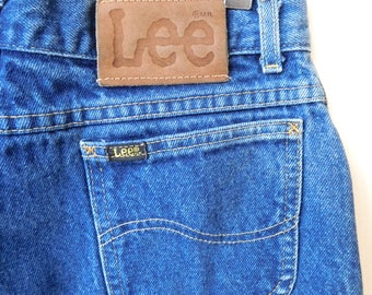 Waist 29 Lee Riders jeans Vintage 1980s  Mom jeans High waisted High rise Classic 1970s Lee's Dark wash Vintage denim