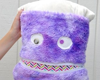 Purple Monster Pillow & Blanket