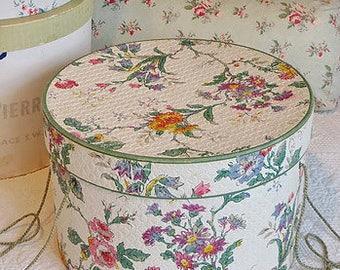 Wallpaper Covered Hat Box