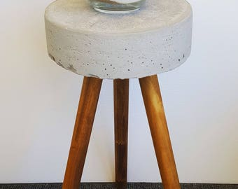 Sleek and Simple Anywhere Concrete Stool