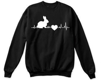 Bunny heart beat shirt, bunny shirt, bunny tshirt, easter shirt, easter bunny shirt, easter bunny gift, easter t-shirt, bunny shirts, bunny