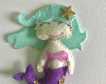 Millie the Mermaid Felt Ornament