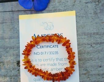 Genuine Amber Bracelet/Anklet for Babies