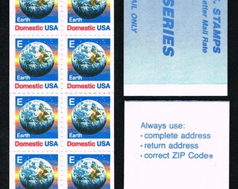 Stamps 1986 E Series Booklet with 12 unused Earth Domestic USA Stamps