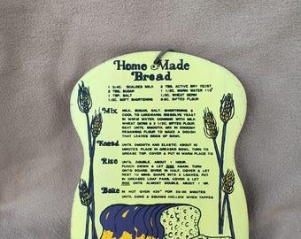Vintage Home Made Bread Wall Plaque,Farm House Decor,Rustic,Wall Decor