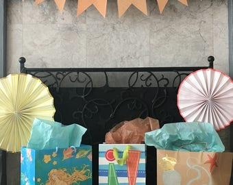 Orange Craft Paper Banner