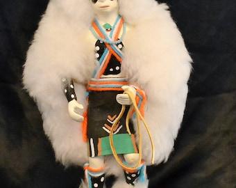 White Buffalo Kachina Dancer  Doll