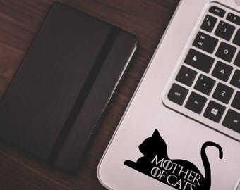 Game of Thrones inspired Pet Decal   Mother of Cats Car Vinyl Laptop Decal Sticker   Game of thrones