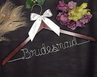 Personalized Wedding Hanger, Bridal Hanger, Custom Wire Name Wedding Dress Hanger, Personalized Hanger, Bridesmaid Dress Hanger, Shower Gift
