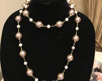 Classy Pearl Long Necklace by Dobka