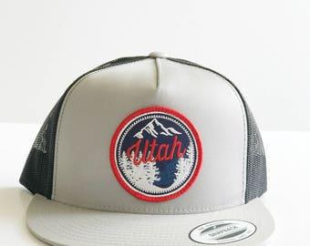 Utah Flat Brim Mesh Hat