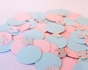 Baby Shower Confetti   Confetti   Baby shower decorations   Gender Reveal   Gender Reveal Party   pink blue party   Baby gifts   boy   Girl