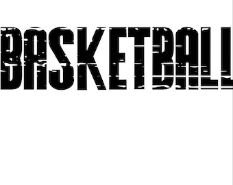 Basketball Distressed SVG/PNG/DXF
