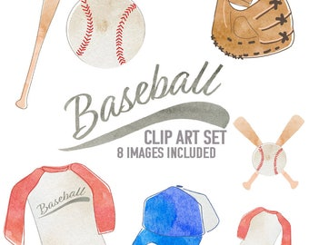 Baseball Clipart Set