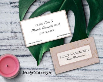 Pink business card, Gold business card, Contact card