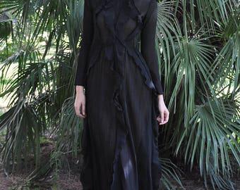 Long georgette dress