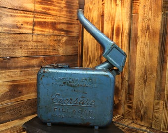 1950's Eversure Fillacan Petrol Can - Steampunk / Industrial Table Lamp