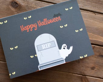 Ghostly Halloween Card