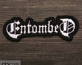Patch Entombed death metal band.