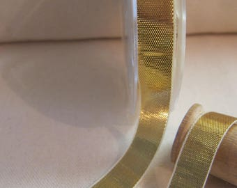 Gold 15 mm DMC lame Ribbon