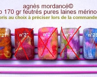 Aleppo SOAP felted pure Merino Wool - unique beauty