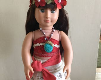 Moana Costume/Outfit #11 for 18 in. Dolls (American Girl, Our Generation, etc.)