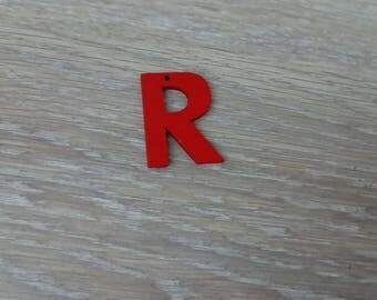 Letter R wooden scraptbooking embellishment