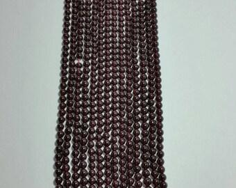 14 Inches Full Strand Natural Garnet 5 MM Round (Balls) Beads