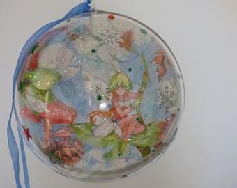 ball clear 14.5 cm 3D decoupage