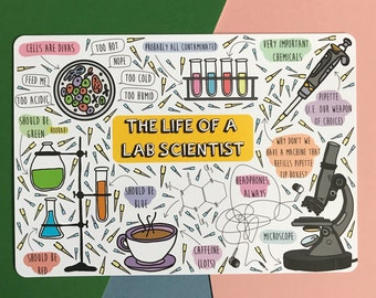 The Life of a Lab Scientist - A5 Science Print, Postcard