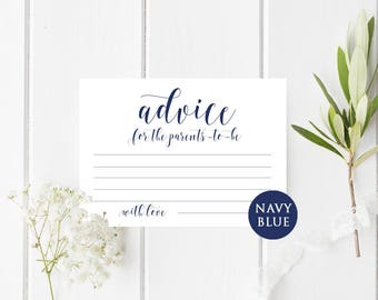 Advice for new parents cards Advice for parents to be Baby shower advice cards Baby shower games Baby shower ideas printables Advice ideas