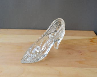 Vintage glass shoe | Etsy