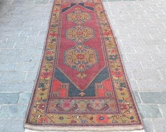 Oushak Rug Runner,Vintage Rug Runner,Turkish Rug Runner,Anatolian Handwoven Rug Runner 311x105 cm No:1750