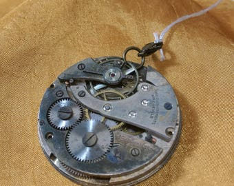 Silver Double-Sided Steampunk Pendent (B)