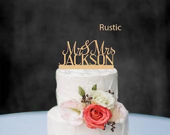 Personalized Wedding Cake Topper, Customized Cake Topper for Wedding, Personalized Custom Wedding Cake Topper, Mr and Mrs Cake Topper 01