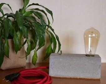 Lamp concrete filament bulb