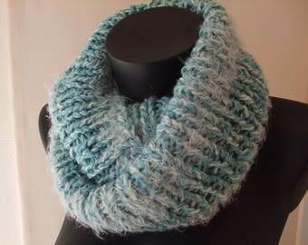 Hand knitted wool Snood