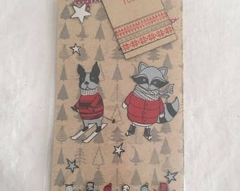 Tag label dogs small gift and Christmas bookmark