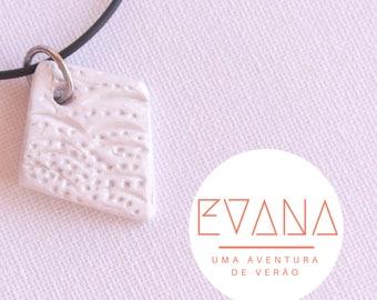 Texturized White Diamond Form Necklace # 8