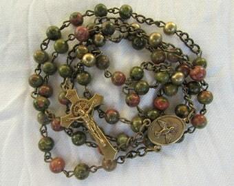 Unakite Rosary 6mm