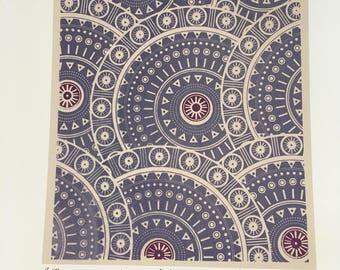Africa - Silk screen print