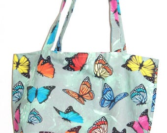 Duck Egg Butterflies Standard Tote Bag, butterfly tote bag, gifts for her, mothers day gift, butterfly bag, shopping bag, tote shopper