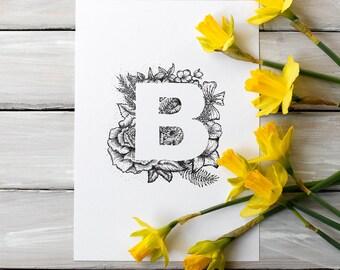 Fine art print - letter B