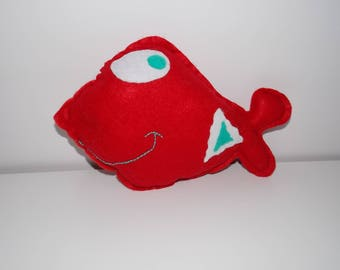 Goldfish in felt for baby / child. Stuffed / plush felt. Newborn baby gift / present for a child.