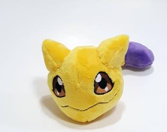 Digimon small Nyaromon custom plush - ready to be shipped