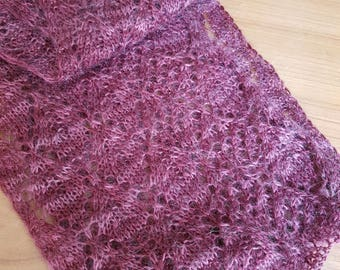 Elegant Handmade Knitted Lace Scarf