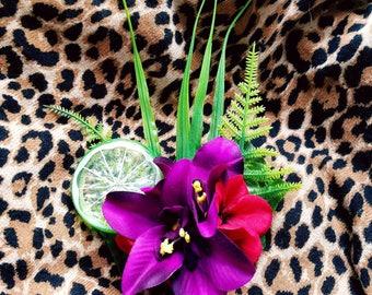 Lime Hair Flower
