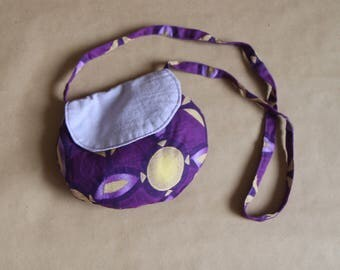 My first girl bag, mini bag in hand - African violet