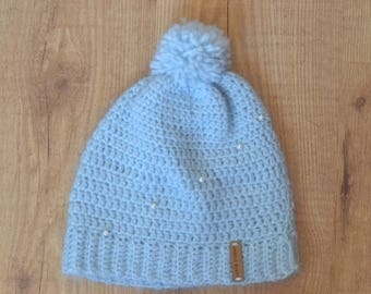 Wool Icy Blue Hat